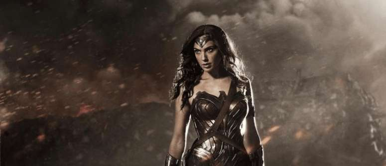 Gal Gadot tenaciously poses as Batman vs Superman's Wonder Woman