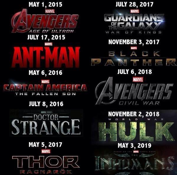 Marvel Leaked List - www.filmfad.com