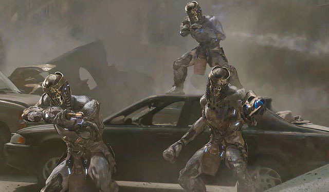 "Chitauri attack in ""The Avengers"""