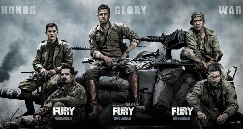 Fury Movie Brad Pitt Shia LaBeouf