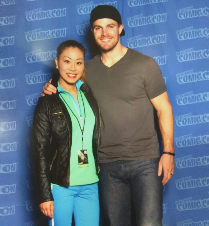 Film Fad Writer Lisa with Stephen Amell