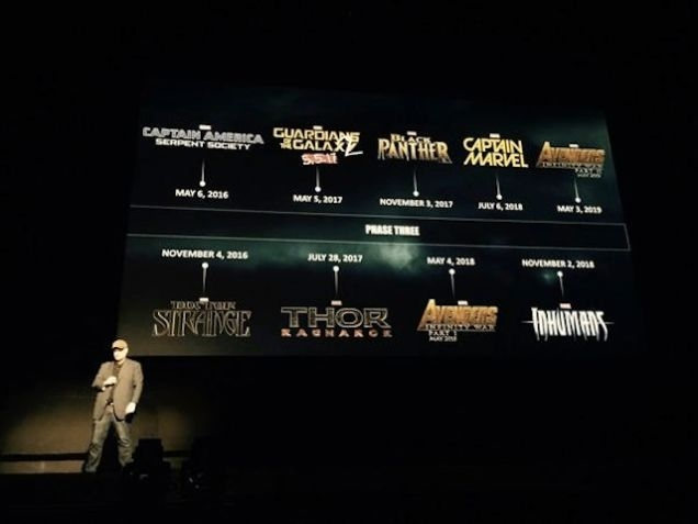 Marvel Phase 3 Calendar