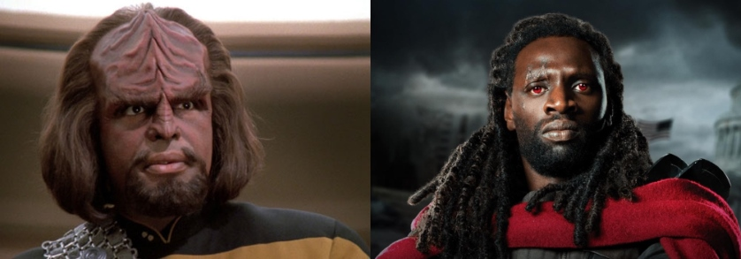 Michael Dorn (Worf) Omar Sy Bishop