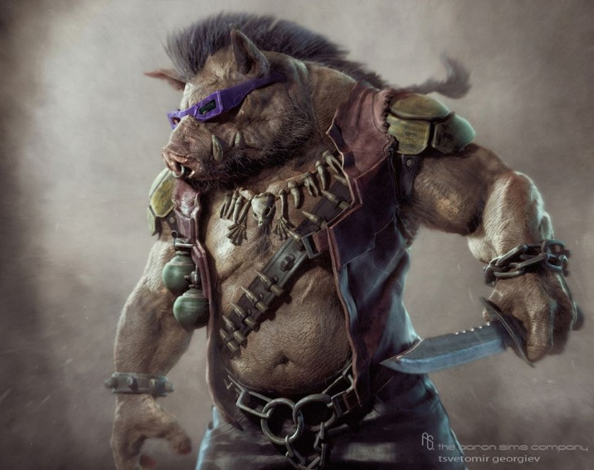TMNT Concept Art for Bebop, Rocksteady, and Krang released for Michael Bay's Ninja Turtles
