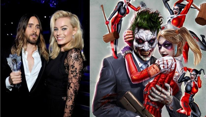 Jared Leto as the Joker, Margot Robbie as Harley Quinn