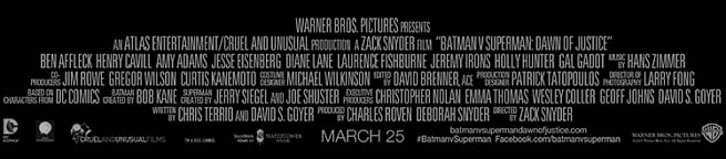 Batman V Superman Credits
