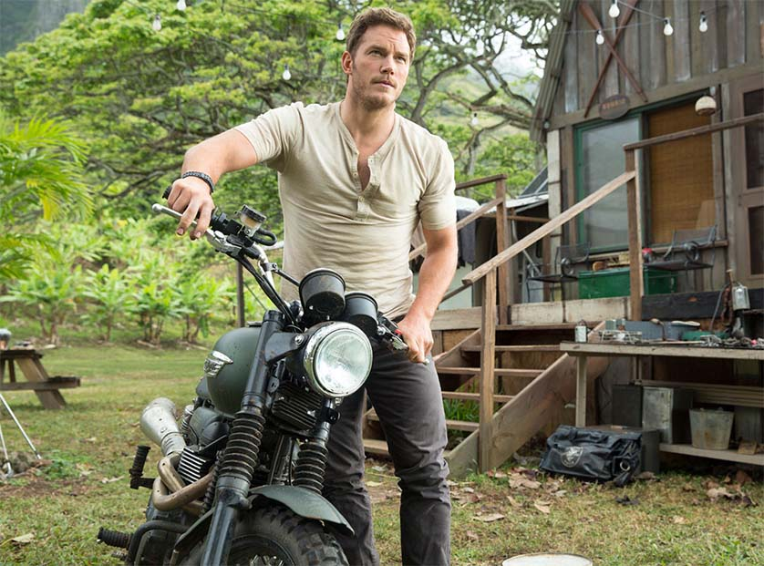 Chris Pratt Jurassic World Motorcycle