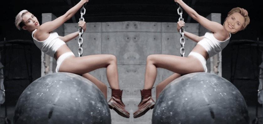 Miley Cyrus - Hillary Clinton - 2 - FilmFad.com