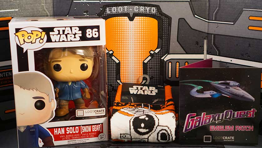 Unboxing: Loot Crate Level Up December 2015 Galaxy Edition