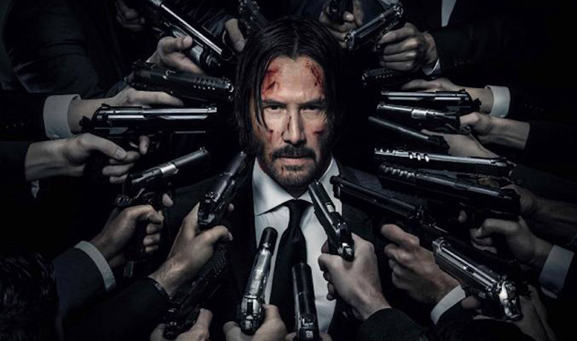 John Wick Chapter 2 - Keanu Reeves Gun Head