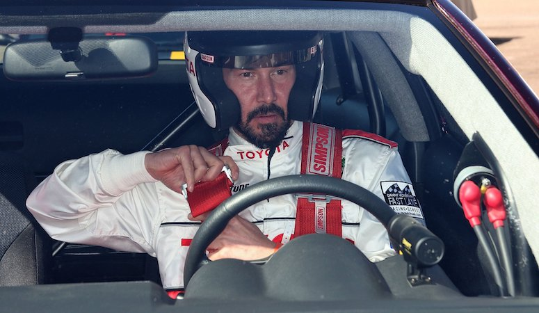 Keanu Reeves Rally Car Toyota Pro Celebrity Race