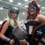 Lady Thor with Lady America #BCC2014