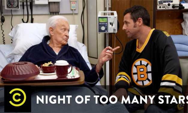 Adam Sandler & Bob Barker recreate <em>Happy Gilmore</em> fight