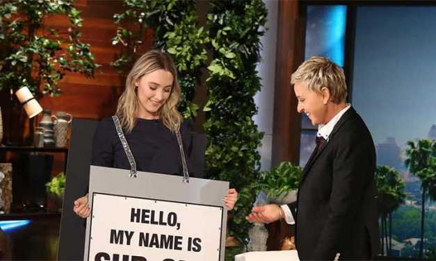 Ellen DeGeneres Shows How to Pronounce Saoirse Ronan