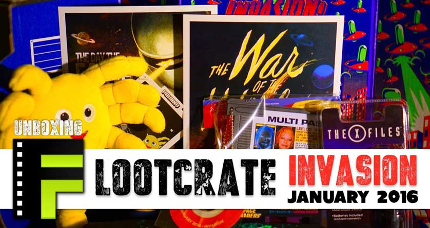 Unboxing: Loot Crate January 2016 Invasion Box