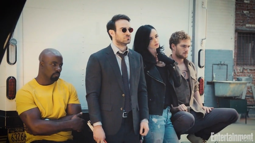 """EW Gives """"The Defenders"""" First Look At Jessica Jones, Daredevil, Luke Cage & Iron Fist Team-Up"""