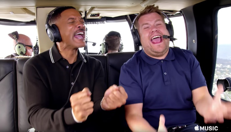 Will Smith James Corden Carpool Karaoke Trailer Filmfad Com