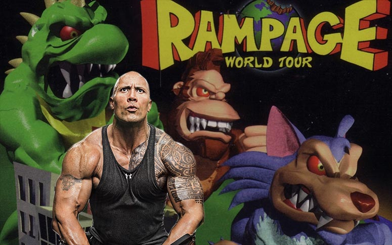 'Rampage' Film Adaptation Begins Filming Starring Dwayne 'The Rock' Johnson