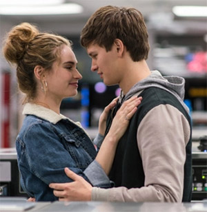 Lily-James-Ansel-Elgort
